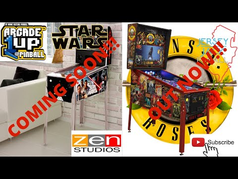 Arcade1up: Star Wars Pinball Update! Guns N Roses Pinball released by Jersey Jack Pinball! from PsykoGamer