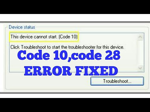 How to fix This Device Cannot Start Code 10 Error - YouTube
