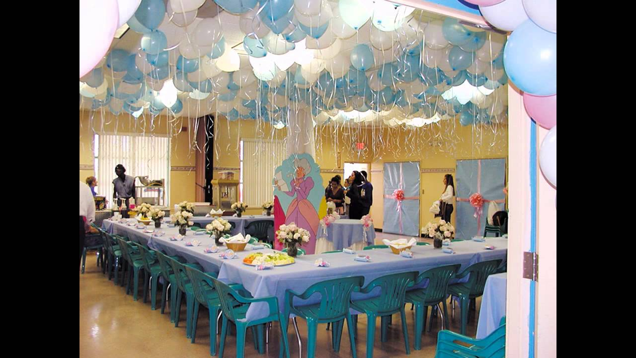 At home birthday party decorations for kids youtube for Birthday home decorations