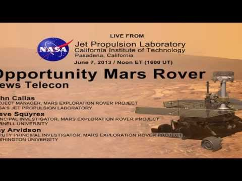 Part 3 of the NASA Mars Rover Opportunity Status Teleconference   June 7 2013