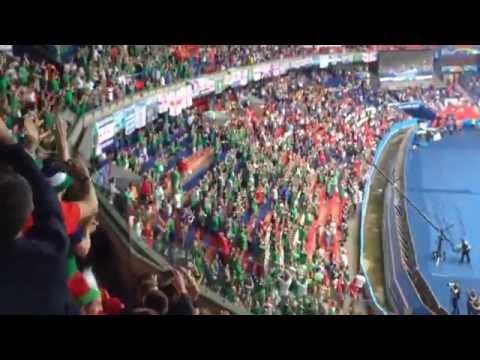 Northern Irish Fans sing on