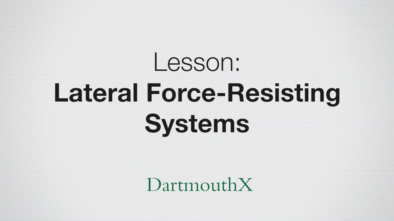 Lateral Force-Resisting Systems - braced frame, shear wall, and ...