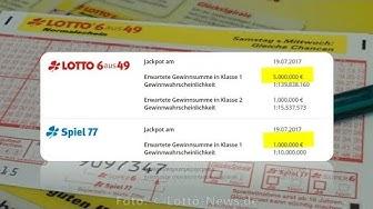 Lotto Ziehung Mittwoch 19.07.2017: Lottozahlen, Spiel 77, Super 6