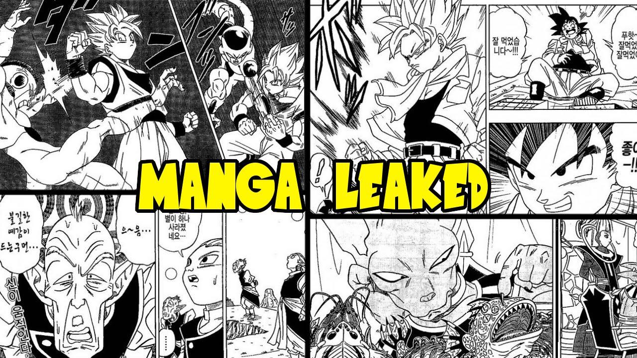 dragon ball super manga chapter leaked full manga chapter for dragon ball super youtube