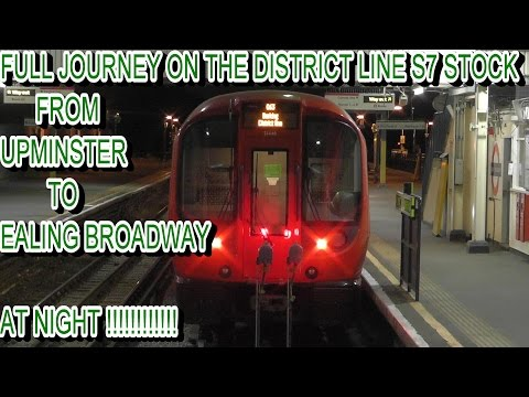Full Journey On The District Line S7 Stock From Upminster To Ealing Broadway At Night