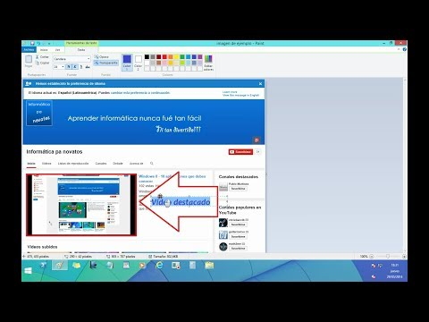 Windows 8 - Paint  - Editar Imágenes