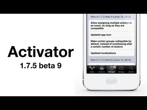 Cydia tweak: Activator 1.7.5 beta 9