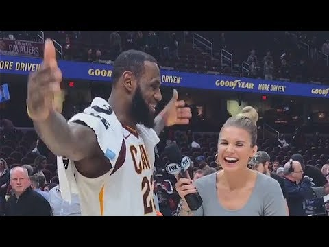 LeBron James Shocks Girls After Throwing Them His Towel!