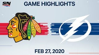 NHL Highlights   Blackhawks vs. Lightning– Feb. 27, 2020
