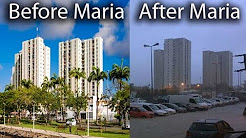 Pointe--Pitre, Guadeloupe before and after Hurricane Maria, floods on hotels, schools