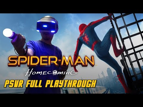 Spider-Man Homecoming VR Full Playthrough Gameplay (PS4) (PSVR)