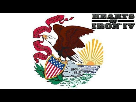 Hearts Of Iron 4 USA States Mod Illinois Episode 1: 3 Fronts!