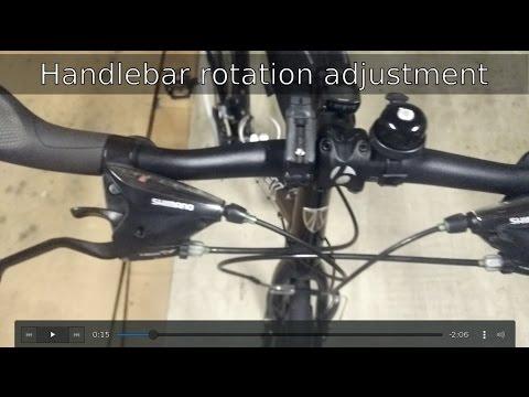 Trek Fx 7 3 Easy Bicycle Handlebar Adjustment Youtube