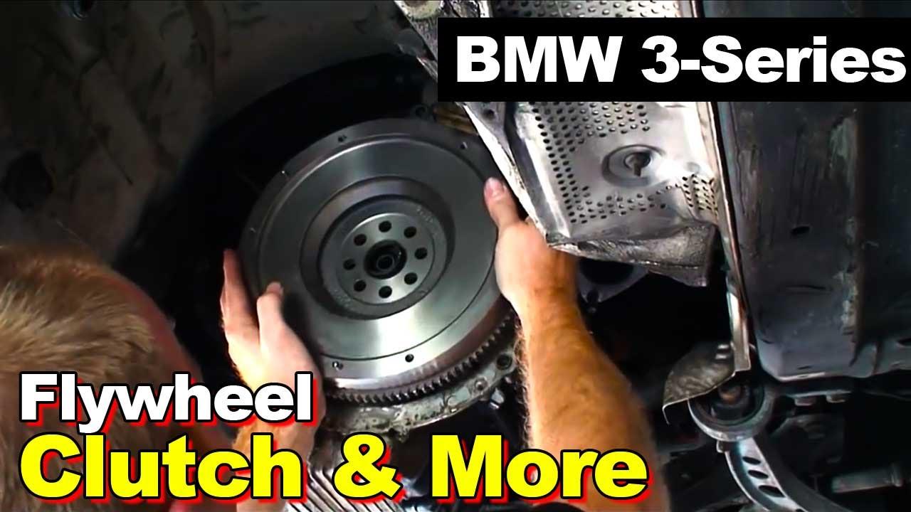 1998 bmw e36 3 series clutch dual mass to single mass flywheel rear main seal exhaust driveshaft youtube [ 1280 x 720 Pixel ]