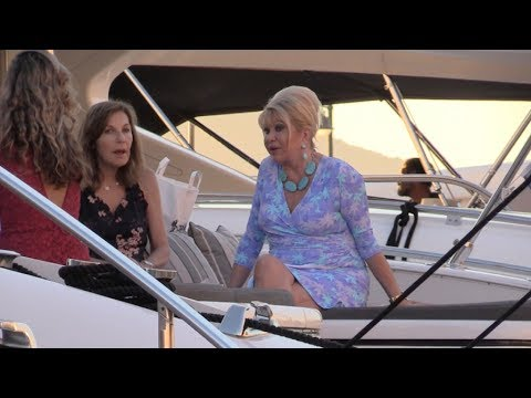 EXCLUSIVE - Ivana Trump and friends on a Yacht in Saint Tropez