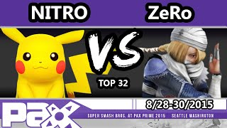 S@P - TSM | ZeRo (Sheik) Vs. 1UP | Nitro (Pikachu) SSB4 Top 32 - Smash Wii U - Smash 4