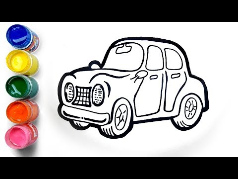 How to Draw Coloring Page with Toy Car for kids || HappyKidz Coloring Pages