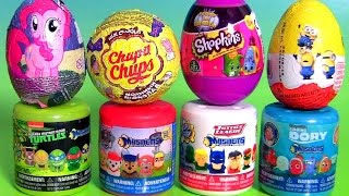 Huevos Sorpresa Chupa Chups Mashems Fashems Shopkins Egg Surprise Justice League Peppa Pig