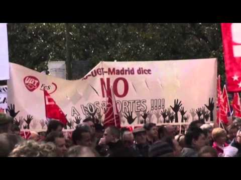 Raw: Spain Austerity Protests Draws Thousands