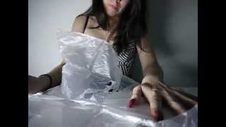 ASMR: Tapping, hard scratching, crinkling and a little nail resistance with different plastics