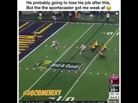 Football commentator swears... a lot