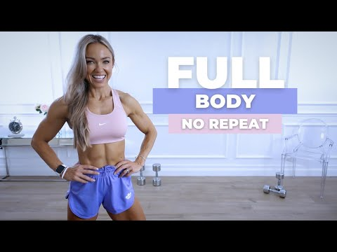 DIVERSE 30 MIN FULL BODY WORKOUT - Dumbbells & Bodyweight | No Repeat