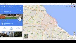 Google Maps: Servicio publico en Buenos Aires Free HD Video
