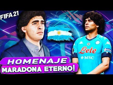 HOMENAJE a DIEGO ARMANDO MARADONA en Fifa 21 Modo Carrera🤍💙 #Maradona