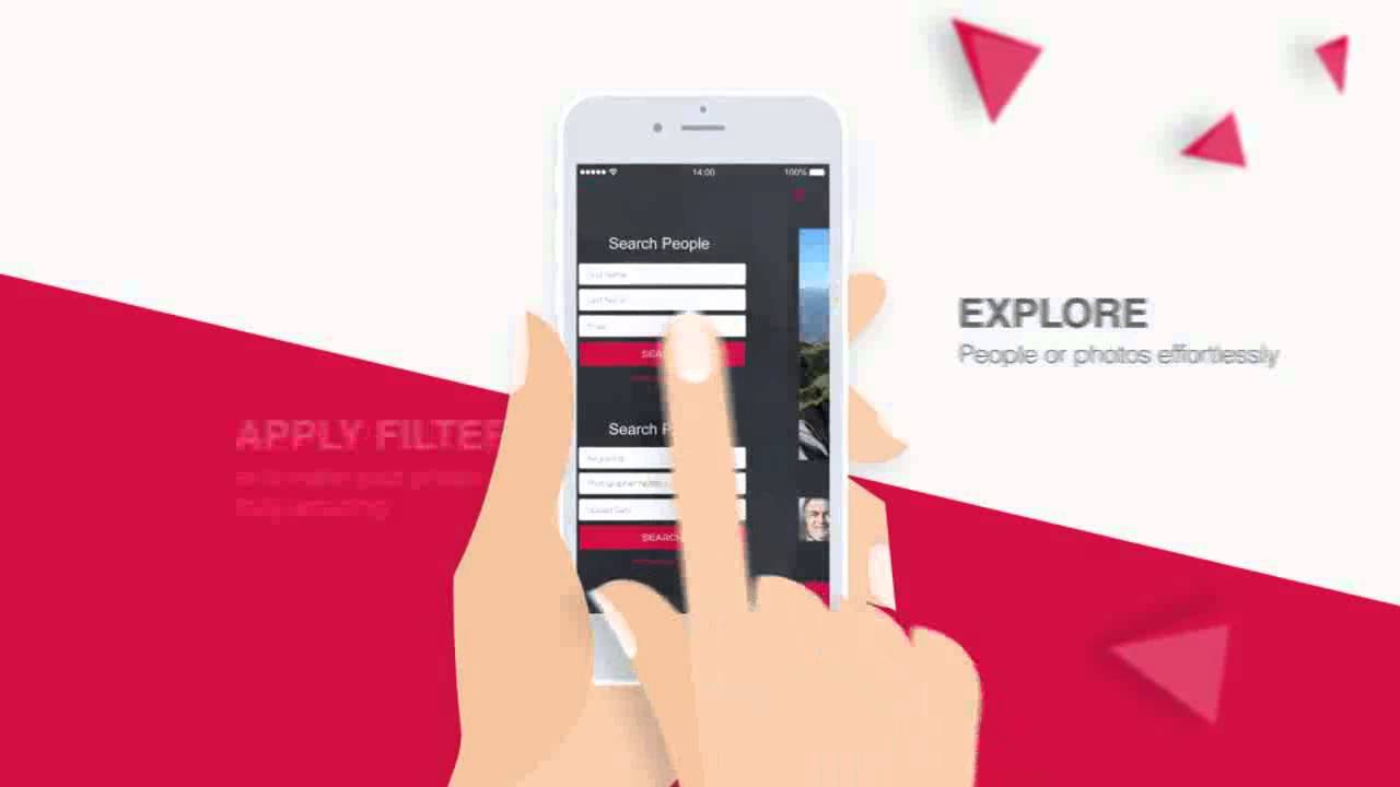 parallax mobile app video presentation after effects template, Presentation templates