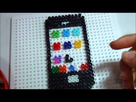 iphone in pyssla hama beads tutorial youtube