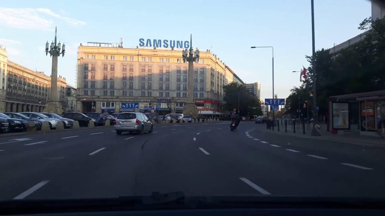 Driving through Warsaw Downtown 3 / поездка в Варшаве 3 / Autofahren in Warschau 3