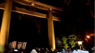明治神宮にて、明治天皇崩御100年・・・獅子躍の奉納。本殿への参内...