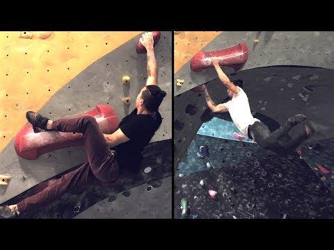 Fun Dynamic Overhang climbs and a tough sloper!
