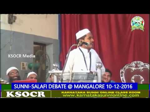 SUNNI-SALAFI DEBATE-@ MANGALORE 10-12-2016 Part 3