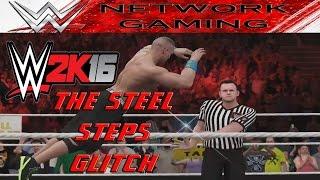 WWE 2K16 Glitches & Funny Stuff The Stair Glitch ft John Cena, Brock Lesnar, & Sting