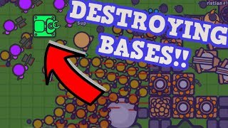 ZOMBS.IO HARVESTER TROLL!! // Destroying Enemy Bases FAST (Zombs.io Funny Moments)