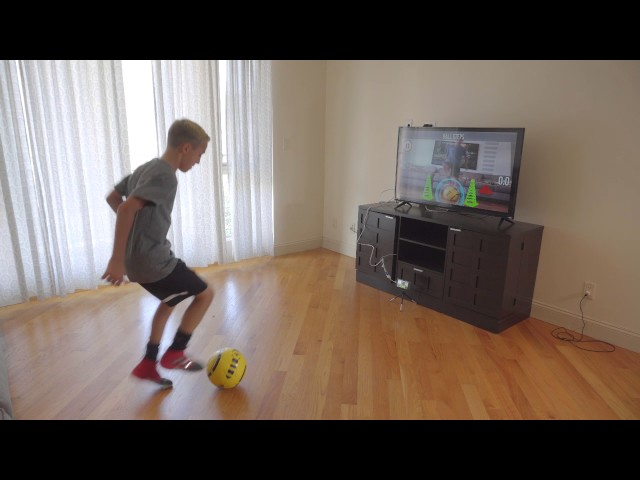 bf21870c5 DribbleUp's 'smart' soccer ball helps you train with an app