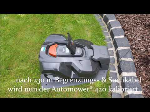 how to install your husqvarna automower robotic lawn m doovi. Black Bedroom Furniture Sets. Home Design Ideas