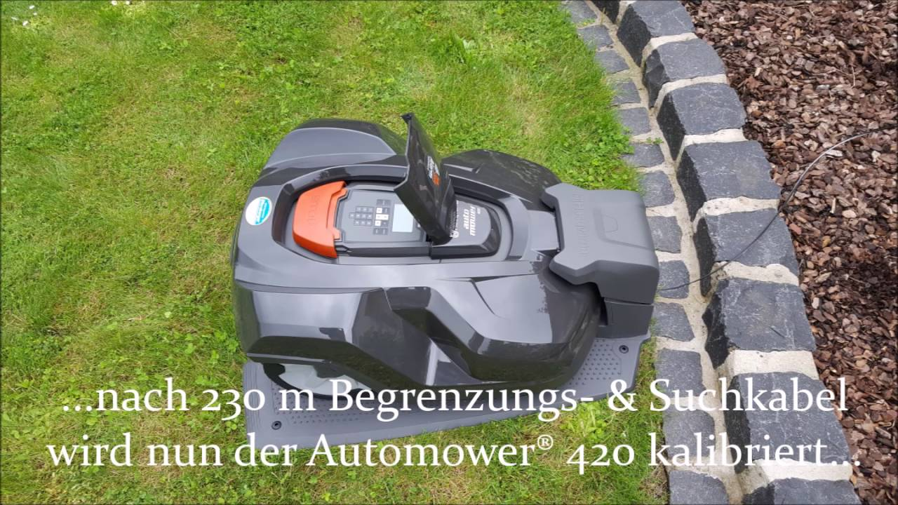 husqvarna automower installation der automower 420 310 youtube. Black Bedroom Furniture Sets. Home Design Ideas