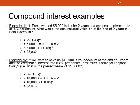 acfi1003 topic 4 financial mathematics 1 simple and compound