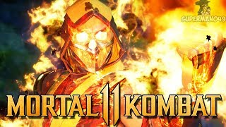 "MKX STYLE COMBOS WITH SCORPION! - Mortal Kombat 11: ""Scorpion"" Gameplay thumbnail"