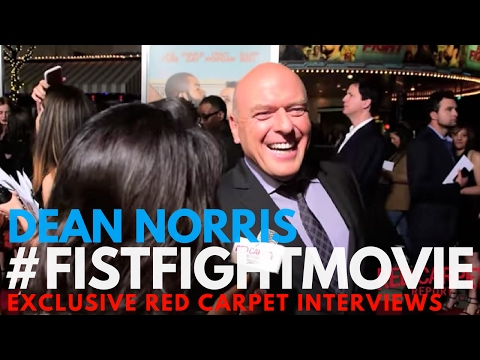 Dean Norris interviewed at the LA Premiere of Fist Fight #FistFightMovie