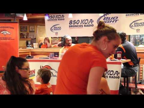 david bruton db safety w cheerleaders Broncos Primetime