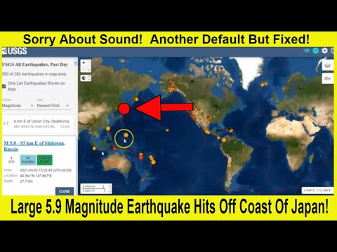 Large 5.9 Magnitude Earthquake Hits Off Coast Of Japan!