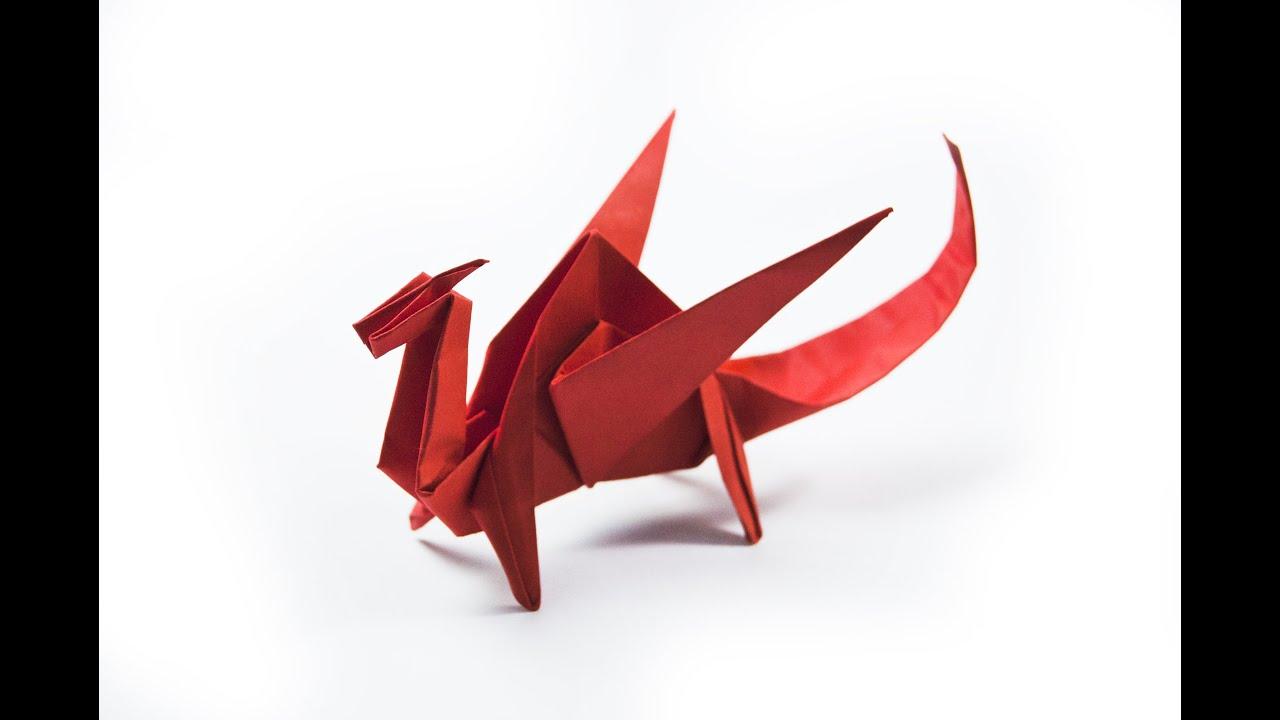 Como hacer un dragón de papel | origami - YouTube - photo#47