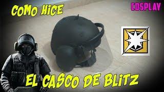 COMO HICE EL CASCO DE BLITZ RAINBOW SIX SIEGE | DIY | COSPLAY | ESPAÑOL