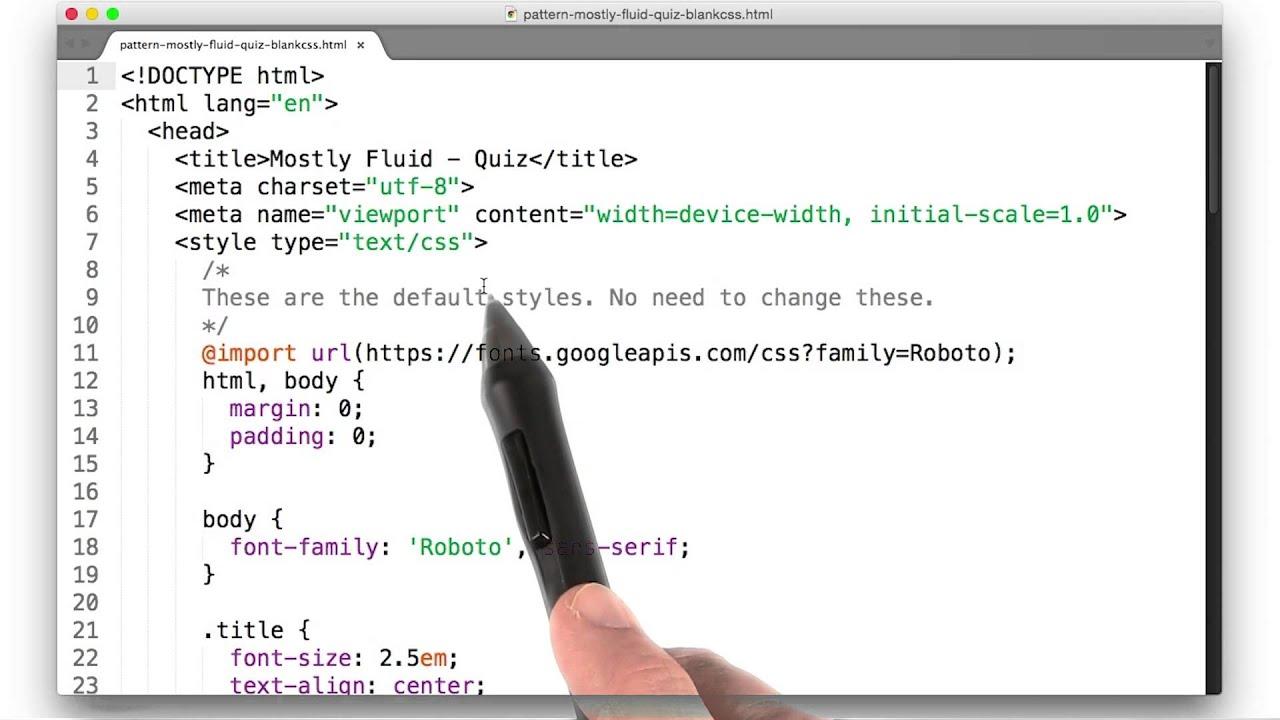 combining fluid layouts quiz responsive web design fundamentals