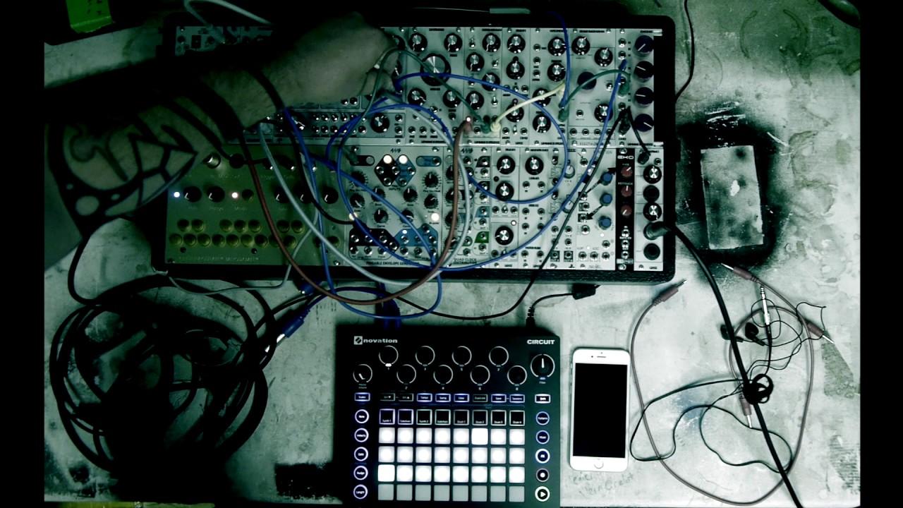 Novation circuit meets my modular synth