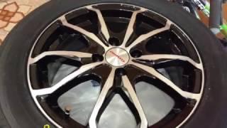 Видео обзор диски литые K&K  Brent, кики, видеообзор резина TOYO DRB
