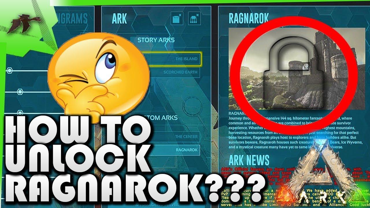 How Unlock Ragnarok Map Easy!(Xbox One/Ps4)  Ark Survival Evolved  Kamz 25